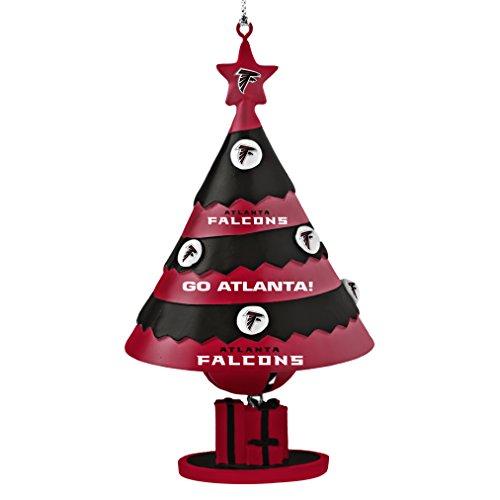 NFL Atlanta Falcons Tree Bell Ornament, Red, 5″