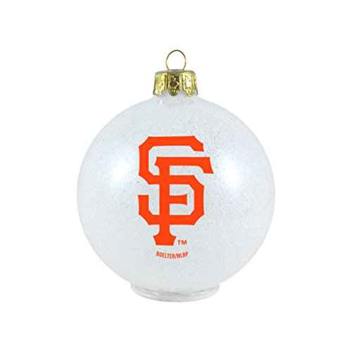 MLB San Francisco Giants LED Color Changing Ball Ornament, 2.625″, White