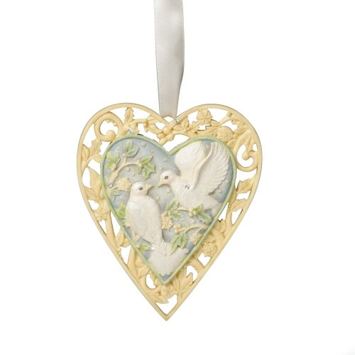 Enesco Foundations Our First Christmas Together Ornament by Artist Karen Hahn, 4.13-Inch