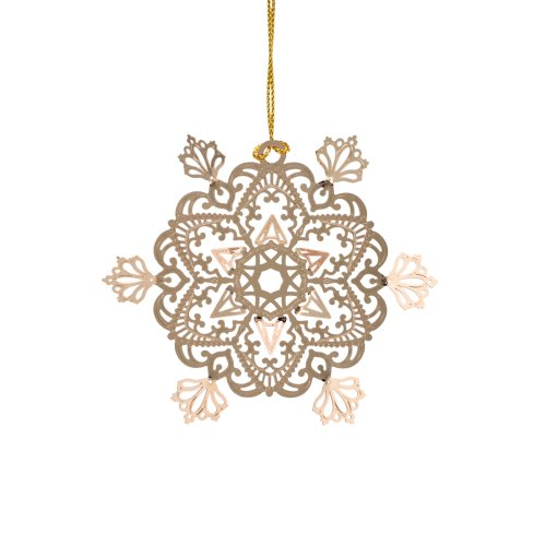 ChemArt Snowbird Ice Flower Ornament