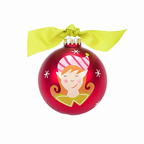 Coton Colors Christmas Ornament – Child Elf Face Girl