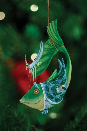 Patience Brewster Catch Of The Day Ornament – Krinkles Christmas Décor New 08-30392