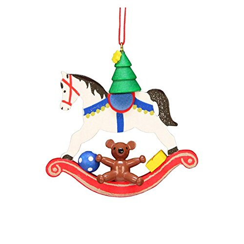 ULBR 10-0605 Christian Ulbricht Ornament – Rocking Horse with Toys