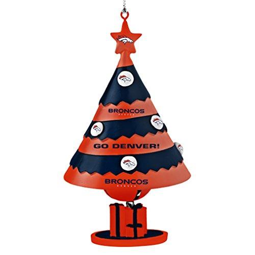 NFL Denver Broncos Tree Bell Ornament, Blue, 5″