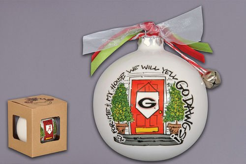 """""""As For Me And My House"""" Holiday Ornament (Georgia Bulldogs)"""