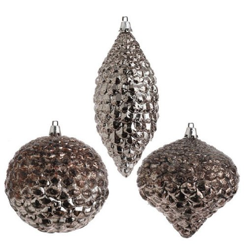 RAZ Imports – Antiqued Silver Pinecone Ornaments