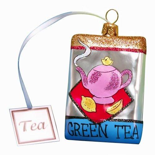 Ornaments to Remember: GREEN TEA BAG Christmas Ornament