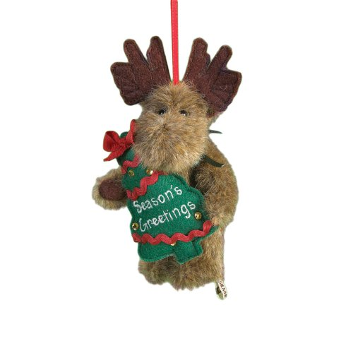 Boyd's Bears by Enesco Collectible Milt Plush Holiday Sentiment Ornament