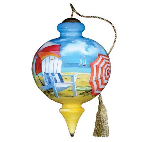 Ne'Qwa Art Beach Umbrellas Ornament By Artist Paul Brent 303