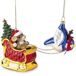 Santa-Mouse Sleigh by Charming Tails