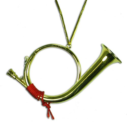 Miniature Post Horn Christmas Ornament