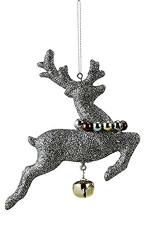 Creative Co-Op Silent Night Collection Reindeer Ornament With Jingle Bell