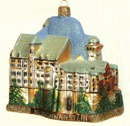 Neuschwanstein Castle Bavaria Germany Polish Glass Christmas Ornament Decoration