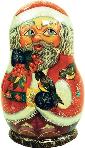 G. Debrekht Birdy Santa Nested Doll, 6″