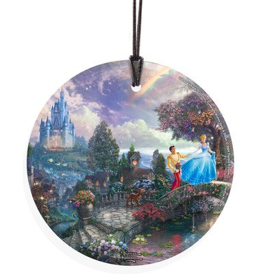 Thomas Kinkade (Cinderella Wishes Upon A Dream) StarFire Prints Wall Décor