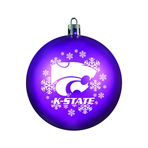 NCAA Kansas State Wildcats Shatterproof Ball Ornament, 3.125″, Purple