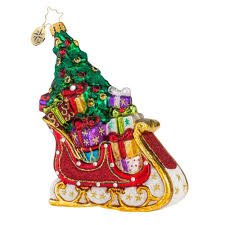 Serendipity Sleigh Ornament by Christopher Radko