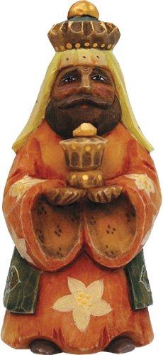 G.DEBREKHT / RUSSIAN GIFT 3 Kings Balthazar Ornament – Russian Hand Crafted Hand Painted Folk Art 65263-3-GDB