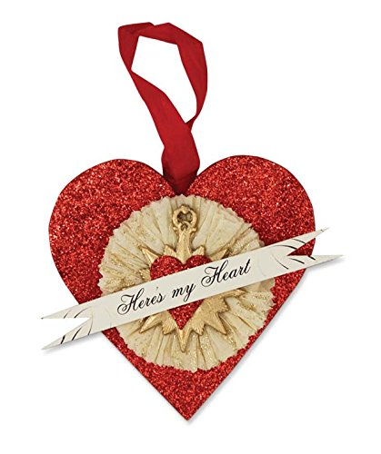Bethany Lowe Here's My Heart Hanging Ornament