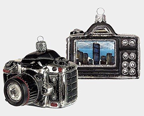 Digital Camera with Chicago Scene Polish Glass Christmas Ornament Decoration