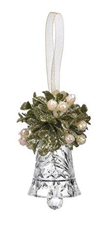 GANZ 3″ Kyrstal Kiss Ball Ornament, Teeny Crystal Bell, Clear – Wedding Acrylic Kissing Crystal-like KK93