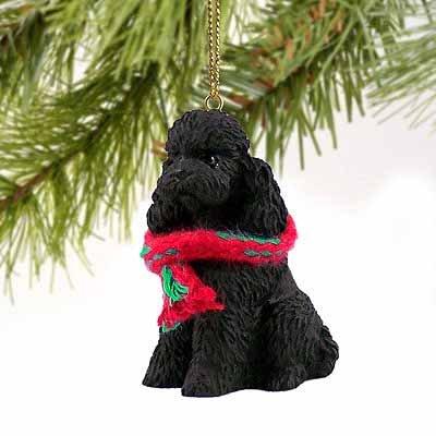 Poodle Sportcut Miniature Dog Ornament – Black