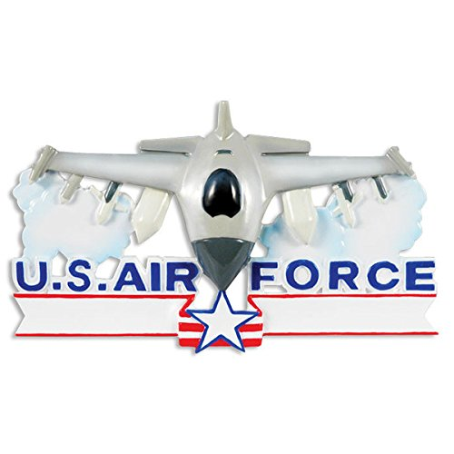 Air Force Fighter Jet Personalized Christmas Tree Ornament