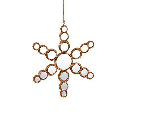 Midwest-CBK Gold Mirrored Snowflake Christmas Ornaments Set of 2