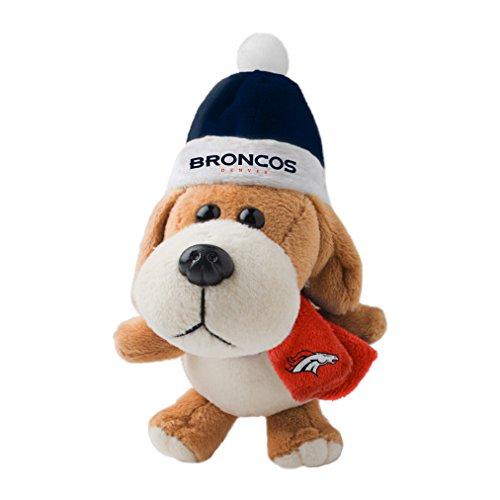 NFL Denver Broncos Plush Dog Ornament, 3″, Brown
