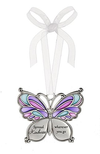 Ganz Butterfly Wishes Colored Ornament – Spread Kindness wherever you go