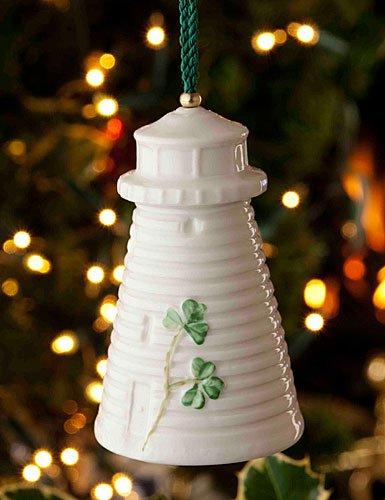 Belleek Donaghadee Lighthouse Bell Ornament, 3.6″