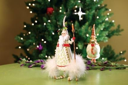 7″ Patience Brewster Krinkles Candle Light Santa Claus Christmas Ornament by Patience Brewster