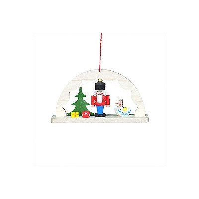 "10-0821 – Christian Ulbricht Ornament – Arch Nutcracker with Toys – 2″""H x 3.5″""W x 1″""D"