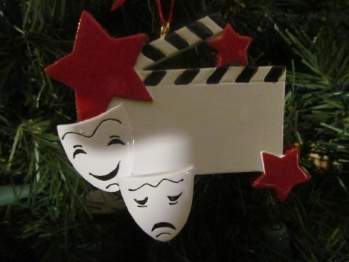 Drama Star Personalized Christmas Tree Ornament