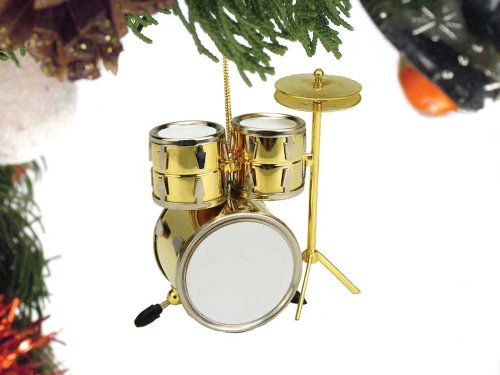 Music Treasures Co. Brass Drum Set Christmas Ornament