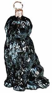 Newfoundland Dog Polish Blown Glass Christmas Ornament Decoration Made in Poland