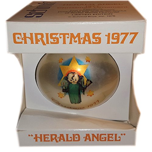Vintage Schmid Brothers Christmas 1977 Herald Angel Ornament By Berta Hummel