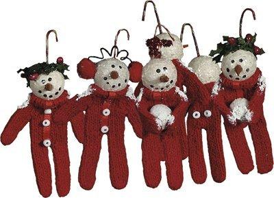 Long John Snowmen Ornaments Box of 6