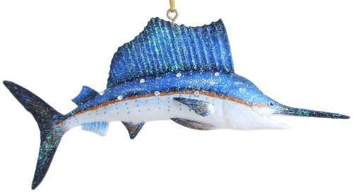 December Diamonds Aquatic Collection Colorful & Beautiful Sailfish Ornament is 5 in Embellished in Clear Rhinestones…Discontinued Valuable Limited Edition!!!