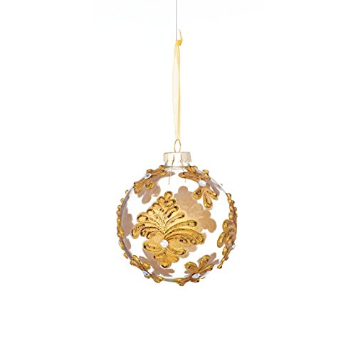 Baroque Pattern Ball Ornament (3 Styles) (6-Pack)