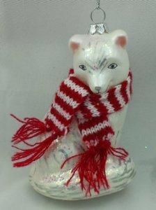 Holiday Lane 5″ Glass Ornament – FOX