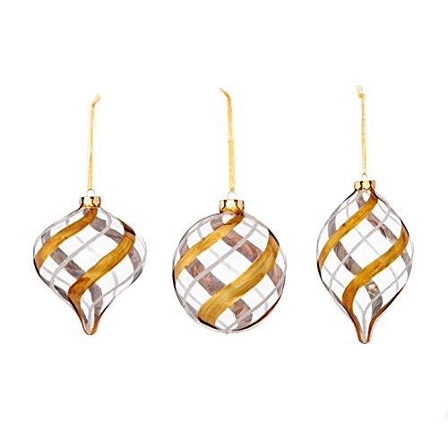 Glass Swirl Ornament (3 Styles) (3-Pack)