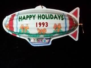 Tin Blimp Holiday Fliers 1993 Hallmark Keepsake Ornament