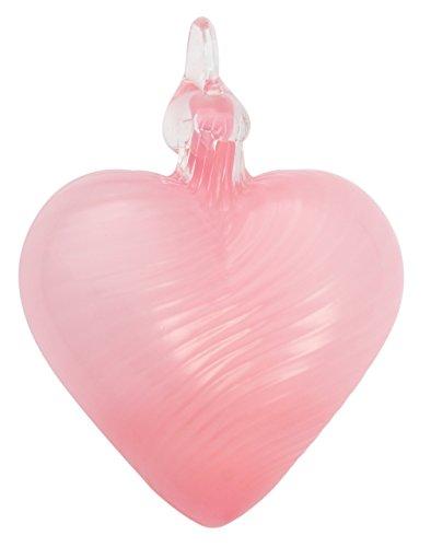 Glass Eye Studio Pink Twist Classic Heart Ornament