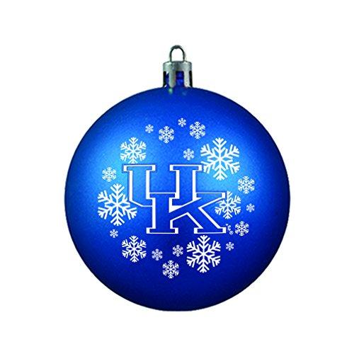 NCAA Kentucky Wildcats Shatterproof Ball Ornament, 3.125″, Blue