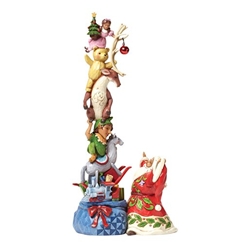 Enesco Jim Shore Santa with Stacked Toys in Bag