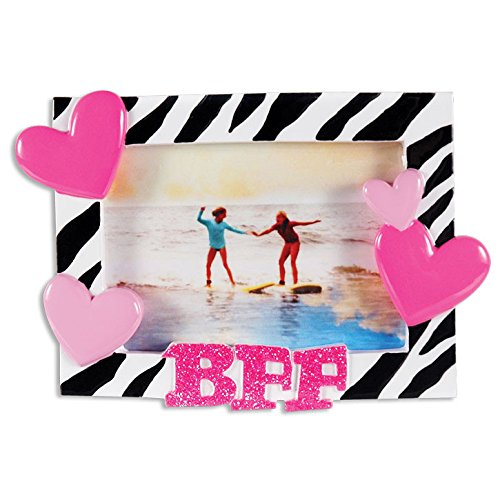 BFF Frame Personalized Christmas Tree Ornament
