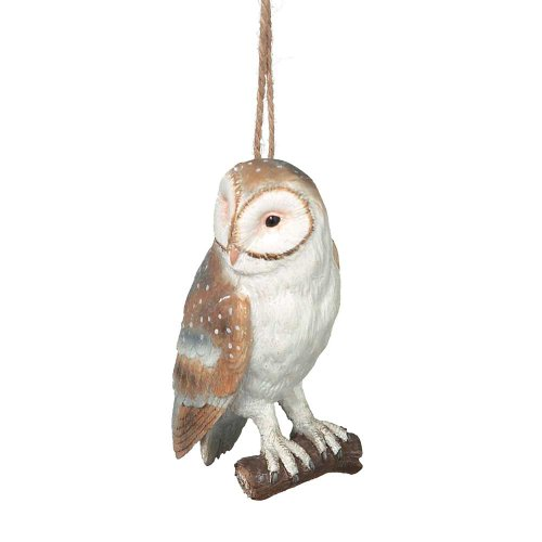 Owl on Branch Resin Hanging Christmas Ornament