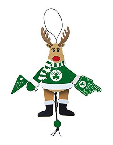 NBA Boston Celtics Wooden Cheer Ornament, Brown, 5.25″