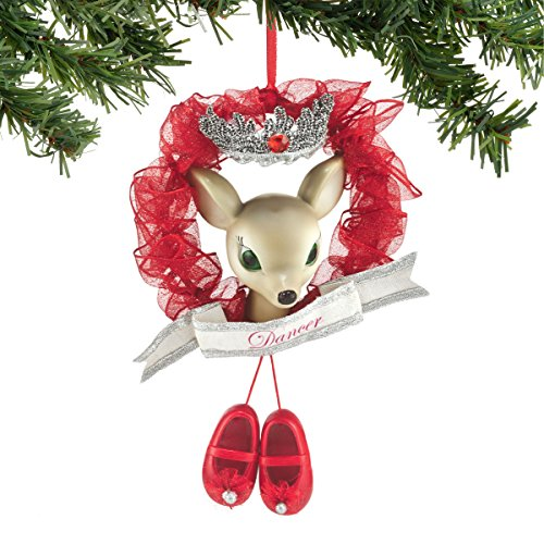 Department 56 Reindeer Tales Dancer Wreath Ornament